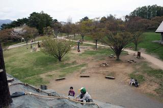 巨大滑り台からの眺め