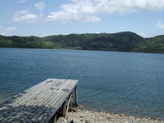 キャンプ場からみた青木湖