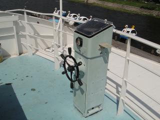 甲板で操舵ができる?