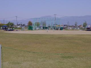 野球練習中