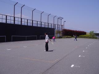 壁打ちテニス