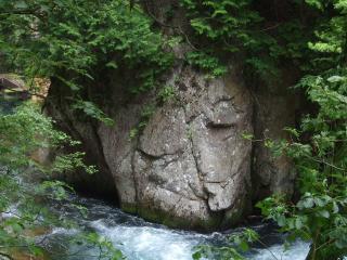 烏川渓谷緑地 人面岩