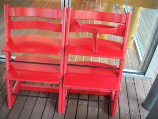 養命酒健康の森カフェにある子供用の椅子
