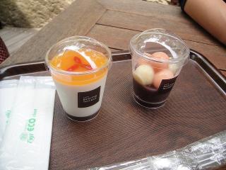 養命酒健康の森カフェのデザート