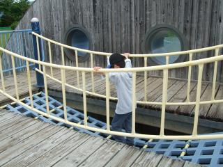 南部公園のつり橋
