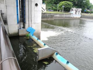 釜口水門の使っていない放水口