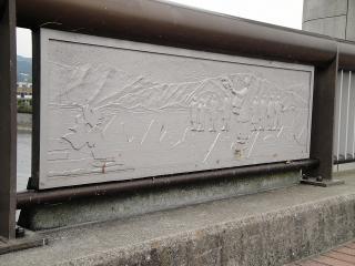 欄干御神渡り(おみわたり)の飾り