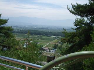 室山アグリパーク ジャンボすべり台からの眺め