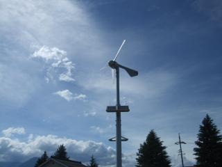 碌山美術館 風力発電