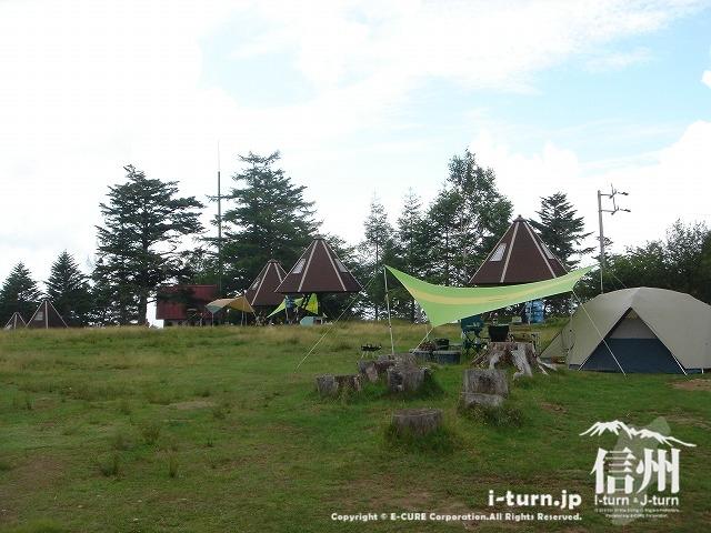 鹿嶺高原の月見平キャンプ場