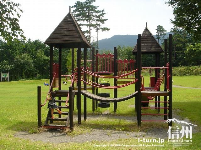 鳩吹公園にあるジャングルすべり台