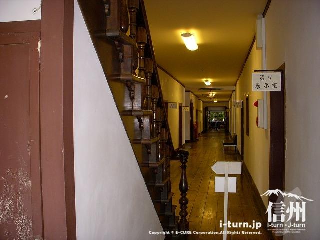 旧開智学校の廊下