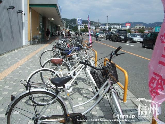 渚ライフサイトの自転車置き場