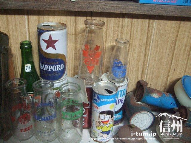 懐かしの缶とビン