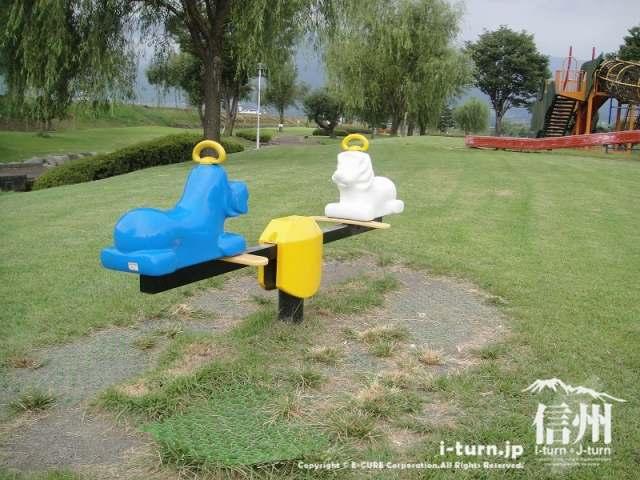 三峰川榛原河川公園 シーソー