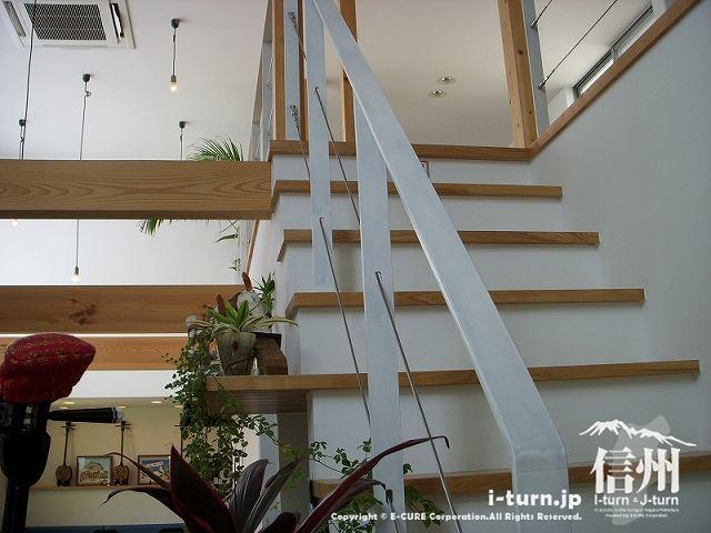 正祥の2階へ登るための階段