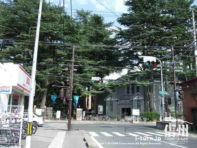 あがたの森公園前の信号