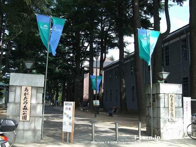 あがたの森公園の正門
