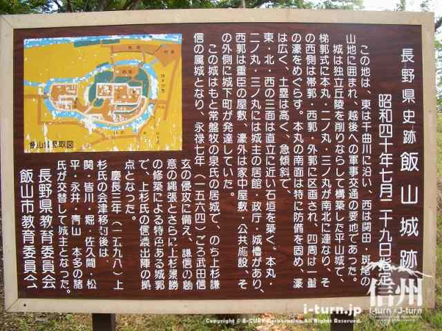 飯山城跡について説明書き