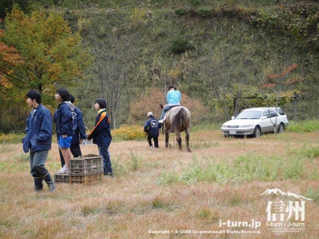 もみじ湖夢まつりでは乗馬もできる