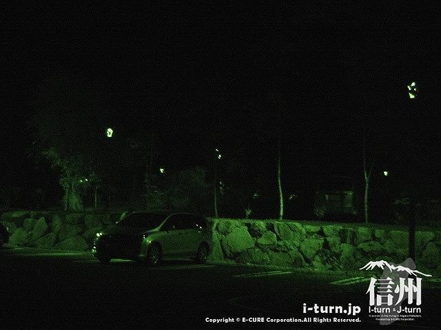 あづみの公園(大町・松川地区) 夜の駐車場