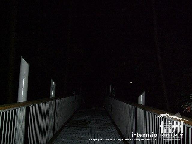 アルプスあかりの森 ライトアップされてないところの空中回廊