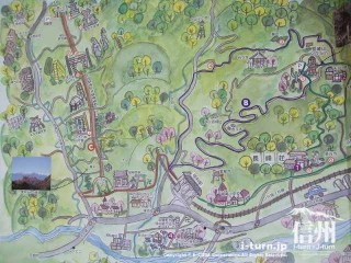 旧国鉄篠ノ井線廃線敷 トレッキングコースの地図