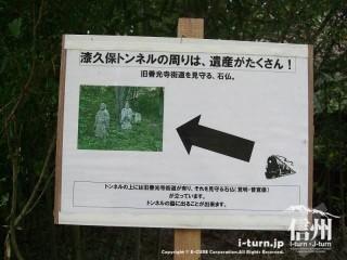 旧国鉄篠ノ井線廃線敷 善覚様と覚明様はトンネルの上
