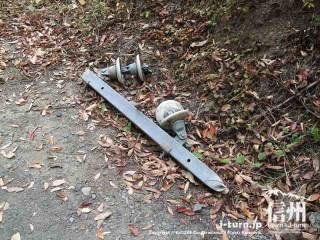 旧国鉄篠ノ井線廃線敷 無造作に捨てられたままの部品