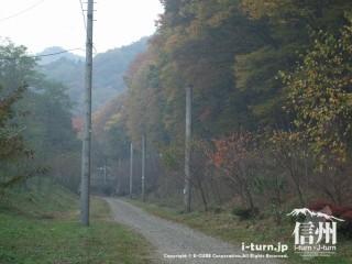 旧国鉄篠ノ井線廃線敷 けやきの森前の廃線敷き
