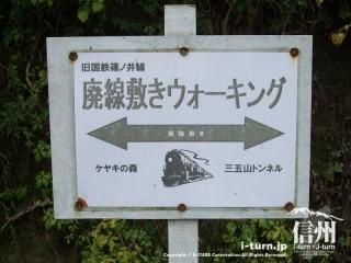 旧国鉄篠ノ井線廃線敷 ケヤキの森―三五山トンネル