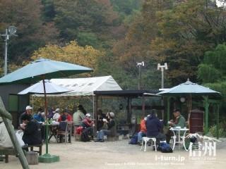 旧国鉄篠ノ井線廃線敷 東平で休憩