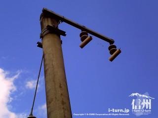 旧国鉄篠ノ井線廃線敷 当時の支柱
