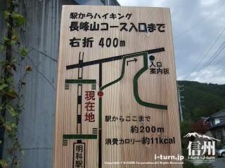 旧国鉄篠ノ井線廃線敷 ここまでの消費カロリー付き