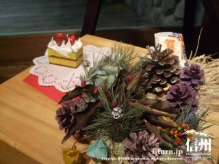 正月リースとクラフトケーキの見本