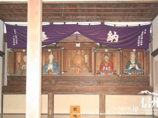 祀られている五聖像