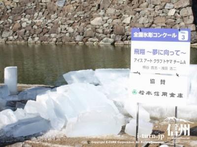 崩れた氷彫刻