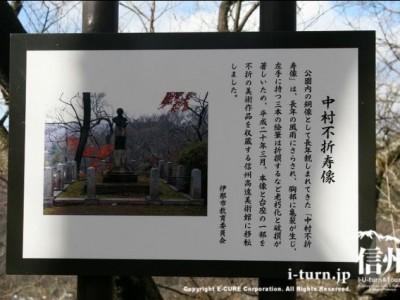 中村不折寿像の説明書き
