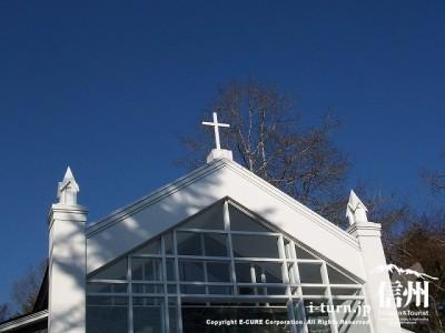森のチャペル軽井沢礼拝堂 教会の十字架