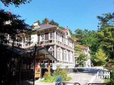 旧三笠ホテル 夏の斜め正面からの全景