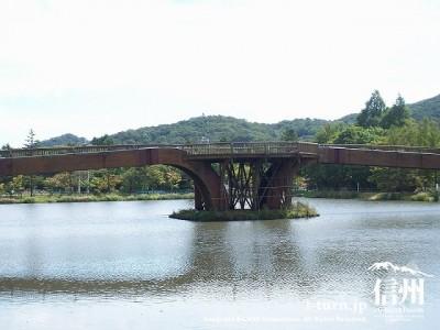 矢ケ崎公園 初秋のウッデイブリッジ