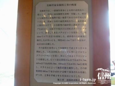 美麻村温泉採掘工事の概要