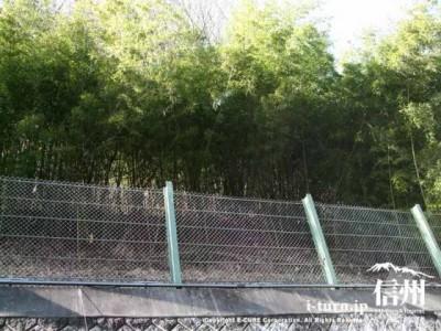 土砂崩れ防止の柵