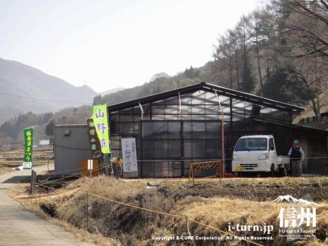 ドーム内は松茸山荘