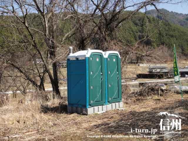 仮設トイレ2基
