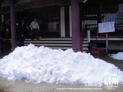 かなりの雪が降りました