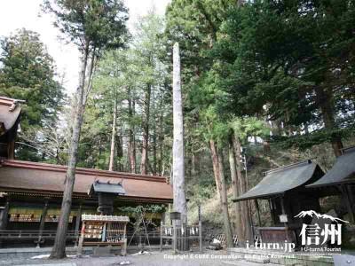 春宮一之御柱 全体 2004年建て御柱