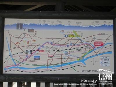自転車道のマップ