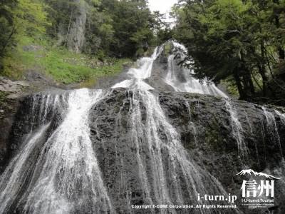 向かって右の滝