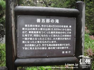 善五郎の滝の由来